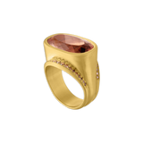 Umber Tourmaline and Diamond Melitodes Ring