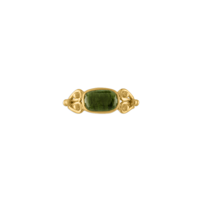 Green Tourmaline Herma Ring