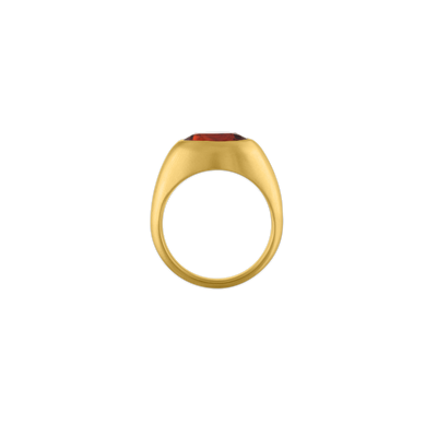 Faceted Spessartite Roz Ring