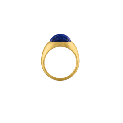 Carved Lapis Roz Ring