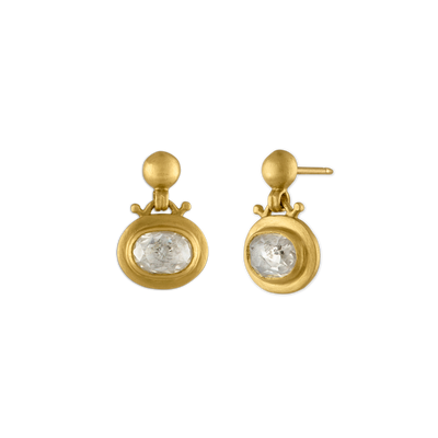 Small Diamond Bell Earrings