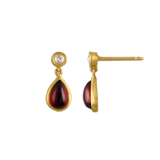 Small Garnet and Diamond Chime Earrings