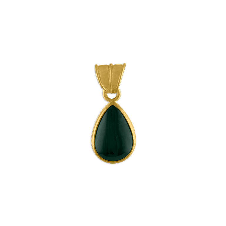 Blue-Green Tourmaline Tear Pendant
