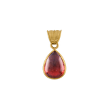 Rose Tourmaline Tear Pendant