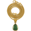 Sage Green Tourmaline Tear Pendant