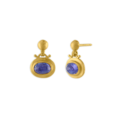 Tanzanite Small Bell Earrings