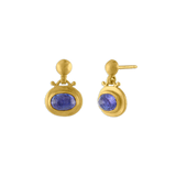 Small Tanzanite Bell Earrings