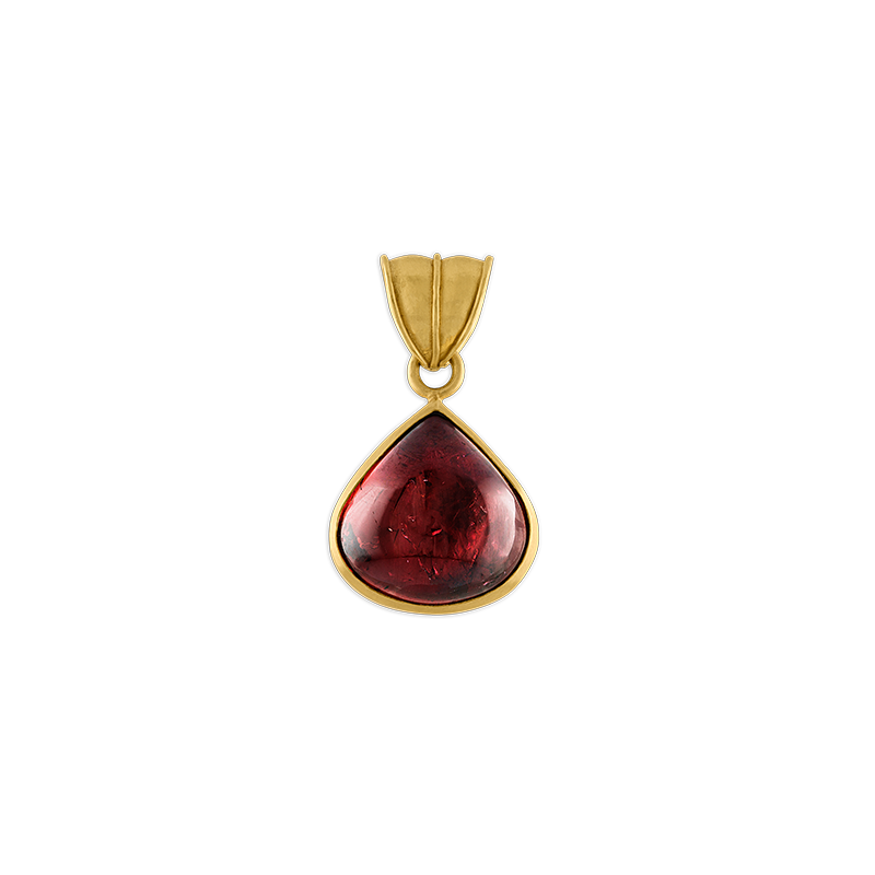 Pink Tourmaline Fan Pendant