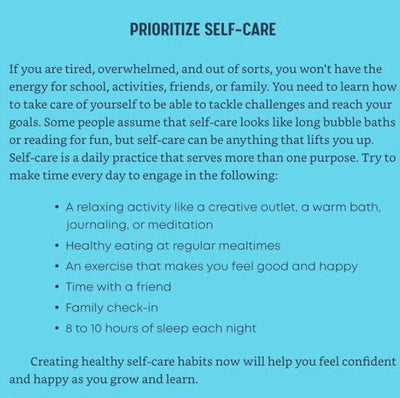 Prioritizing Self-Care from Katie Hurley's New Book: A Year of Positive Thinking for Teens