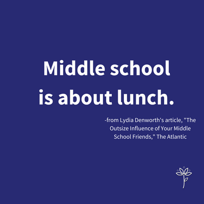 Middle School is About Lunch