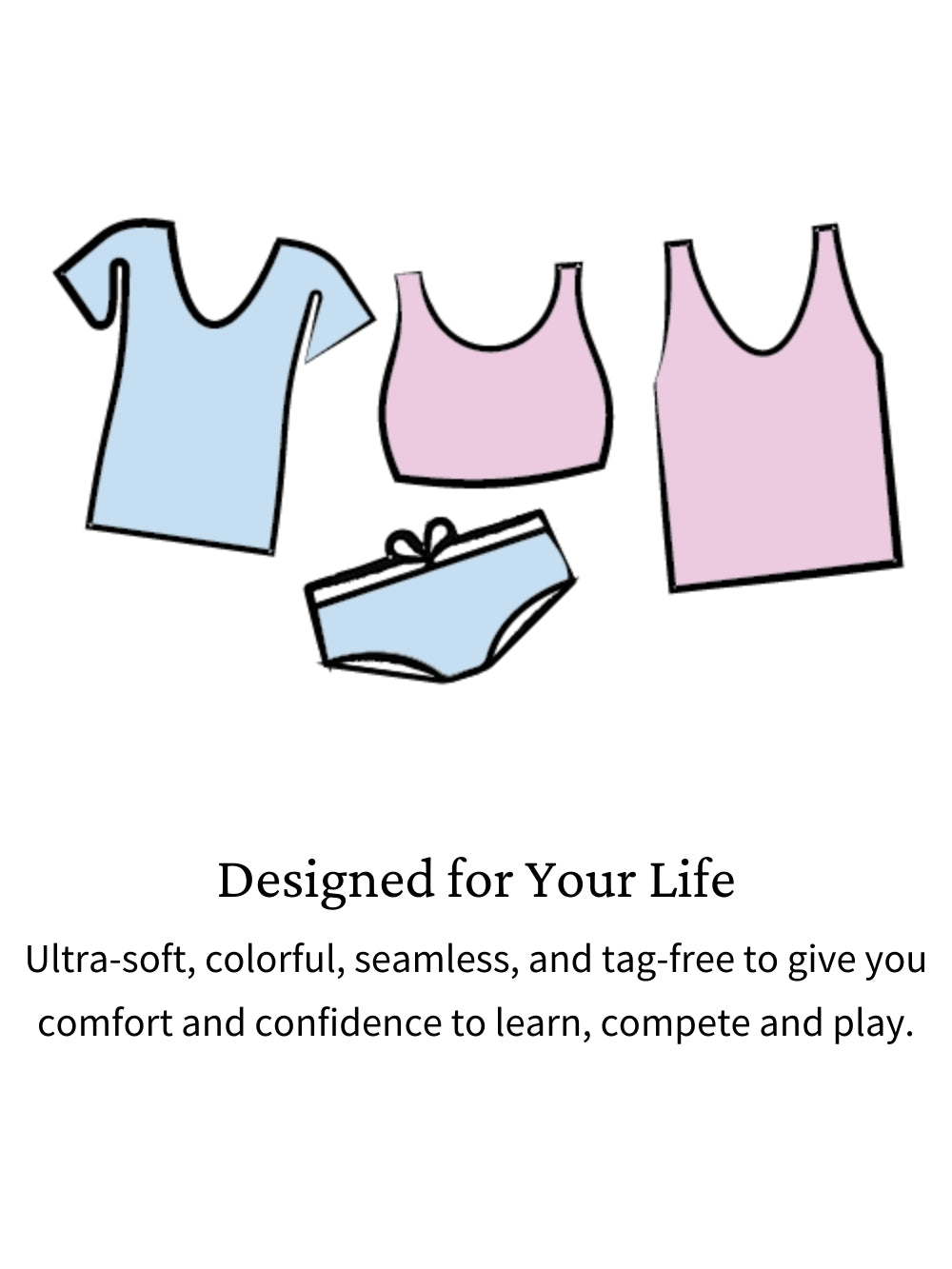Ultra-soft First Bras, Organic Teen Bras, Bamboo bras for Girls. Designed for Girls