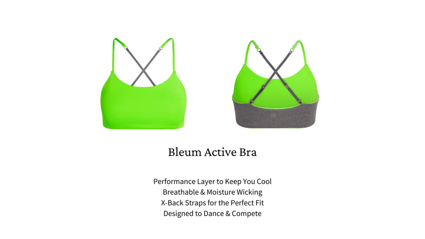 Bleum Active bras are designed for her active life with extra support and coverage. Lightweight, moisture-wicking and breathable.