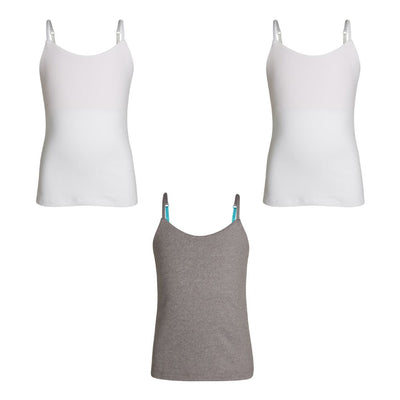 White & Silver Camisoles - Bundle & Save 15%