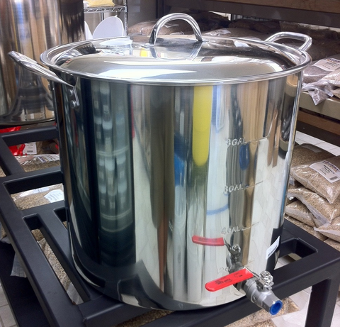 Polar Ware 42 Qt. Stainless Steel Brew Kettle with Lid, Bulkhead and Stainless Steel Ball Valve