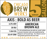 CBW Axis : Bold As Beer (AMERICAN BROWN ALE) - 5 Gallon Extract Ingredient Kit