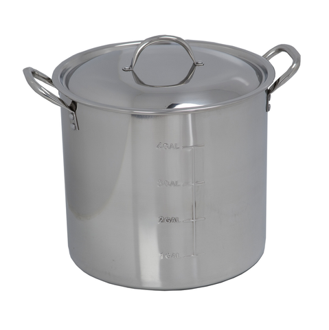 Polar Ware 30 Qt. Stainless Steel Brew Kettle with Lid
