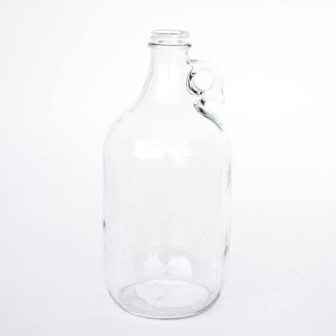 Clear (Flint) 1/2 Gallon Growler Glass Jugs - 1 Each