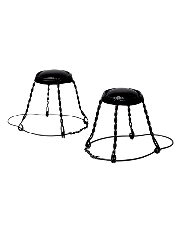 Wires, Hooded - Belgian Black Cap & Wire (24/bag)