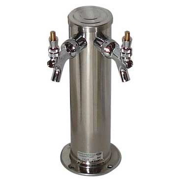 Stainless Draft Tower - 2 Taps