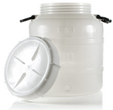 Plastic Fermenter w/ Drilled Grommeted Lid  HDPE - 30 Liter (7.9 gal)