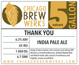 CBW Thank You (American India Pale Ale) - 5 Gallon Extract Ingredient Kit