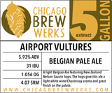 CBW Airport Vultures (BELGIAN PALE ALE) - 5 Gallon Extract Ingredient Kit