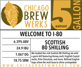 CBW Welcome To I-80 (SCOTTISH 80 SHILLING) - 5 Gallon Extract Ingredient Kit