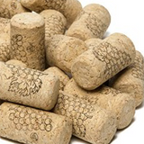 "#8 x 1 3/4"" First Quality Straight Wine Corks - 100 per Bag"