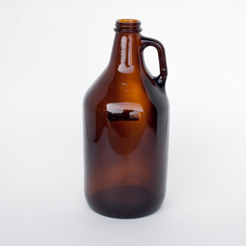Amber 1/2 Gallon Growler Glass Jugs - 1 Each