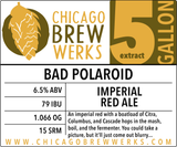 CBW Bad Polaroid (IMPERIAL RED ALE) - 5 Gallon Extract Ingredient Kit