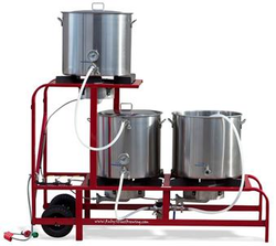 The MEGA Ruby Complete - Complete 20 Gallon System (30 Gallon Kettles) - Propane