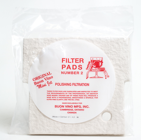 Buon Vino Filter Mini Pad #2 Polish Filtration 1.8 Micron (3/pkg)