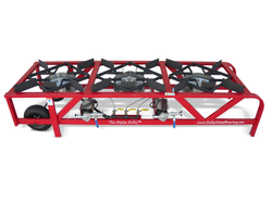 The ALPHA Ruby Frame - With 3 Burners and 2 Pumps - Natural Gas