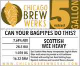 CBW Can Your Bagpipes Do This? (SCOTTISH WEE HEAVY) - 5 Gallon Extract Ingredient Kit