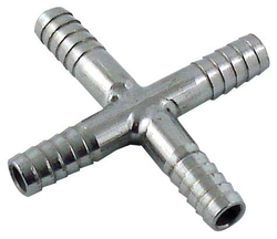 "Stainless Steel Cross 3/8"" Barb"