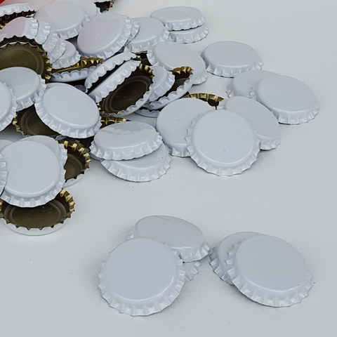 Bottle Caps - White Crown Oxygen Barrier - 1 Gross (Approx 144 Caps)
