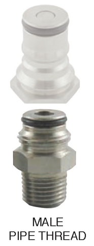 "Adaptor, Gas Ball Lock to 1/4""mpt for Firestone Keg Posts"