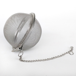 "3"" Stainless Steel Hop Steeper with Chain - Herb Ball"