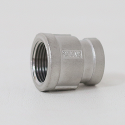 "Reducing Coupler, 3/4"" FPT x 1/2"" FPT, Stainless Steel"