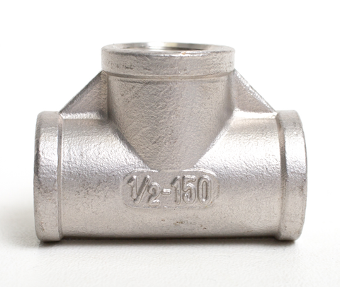 "Stainless Steel Tee - 1/2"" FPT (All Sides)"