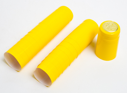 Gloss Yellow PVC Shrink Capsules 30/bag