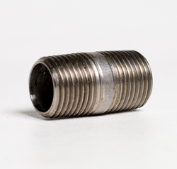 "Stainless Steel Threaded Nipple - 1/2"" NPT X 1-1/2"" Length"