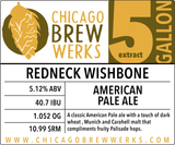 CBW Redneck Wishbone (AMERICAN PALE ALE) - 5 Gallon Extract Ingredient Kit