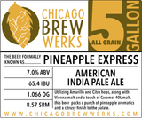 CBW Pineapple Express (AMERICAN INDIA PALE ALE) - 5 Gallon All Grain Ingredient Kit