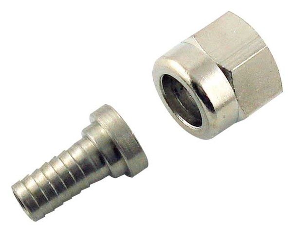 "Adaptor - 1/4"" Barb with 1/4"" FFL swivel nut for threaded disconnect fittings"