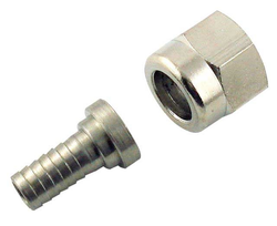 "Adaptor - 5/16"" Barb with 1/4"" FFL swivel nut for threaded disconnect fittings"