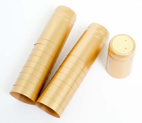 Gold PVC Shrink Capsules 30/bag