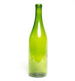 750ml Champagne Green Flat Bottom Burgundy Bottles - 12/Case