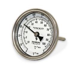 "Brewers Best Kettle Thermometer - 3"" Dial & 4"" Probe"