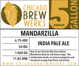 CBW Mandarzilla (AMERICAN INDIA PALE ALE) - 5 Gallon Extract Ingredient Kit